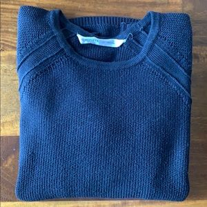 Athleta Black Cotton Blend Sweater